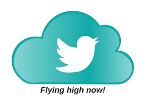 Twitter icon Flying high now!