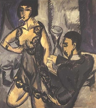 429px-Kirchner-Paar_im_Zimmer-Couple in a Room